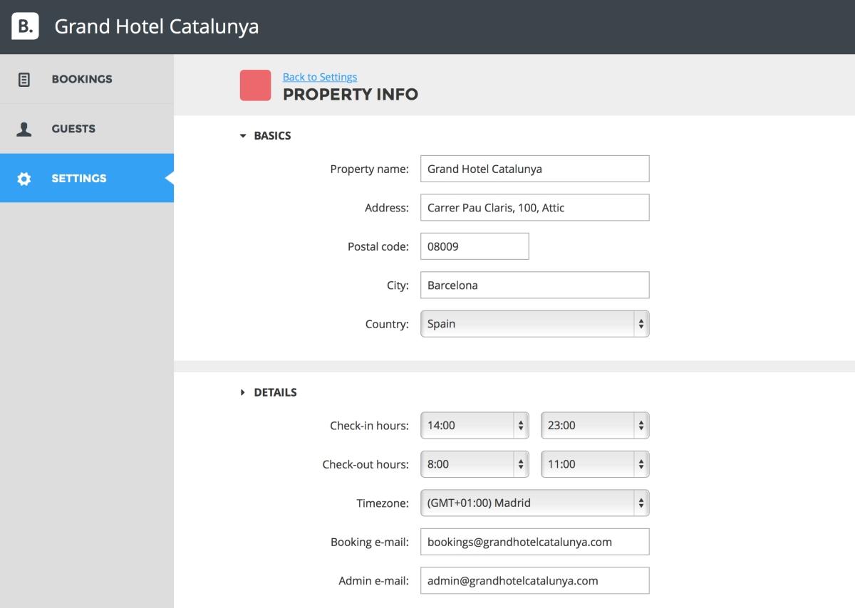BookingSuite mockups