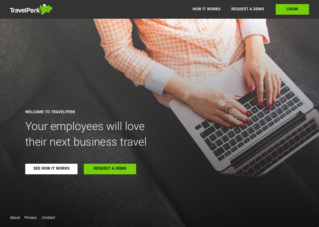 Travelperk homepage