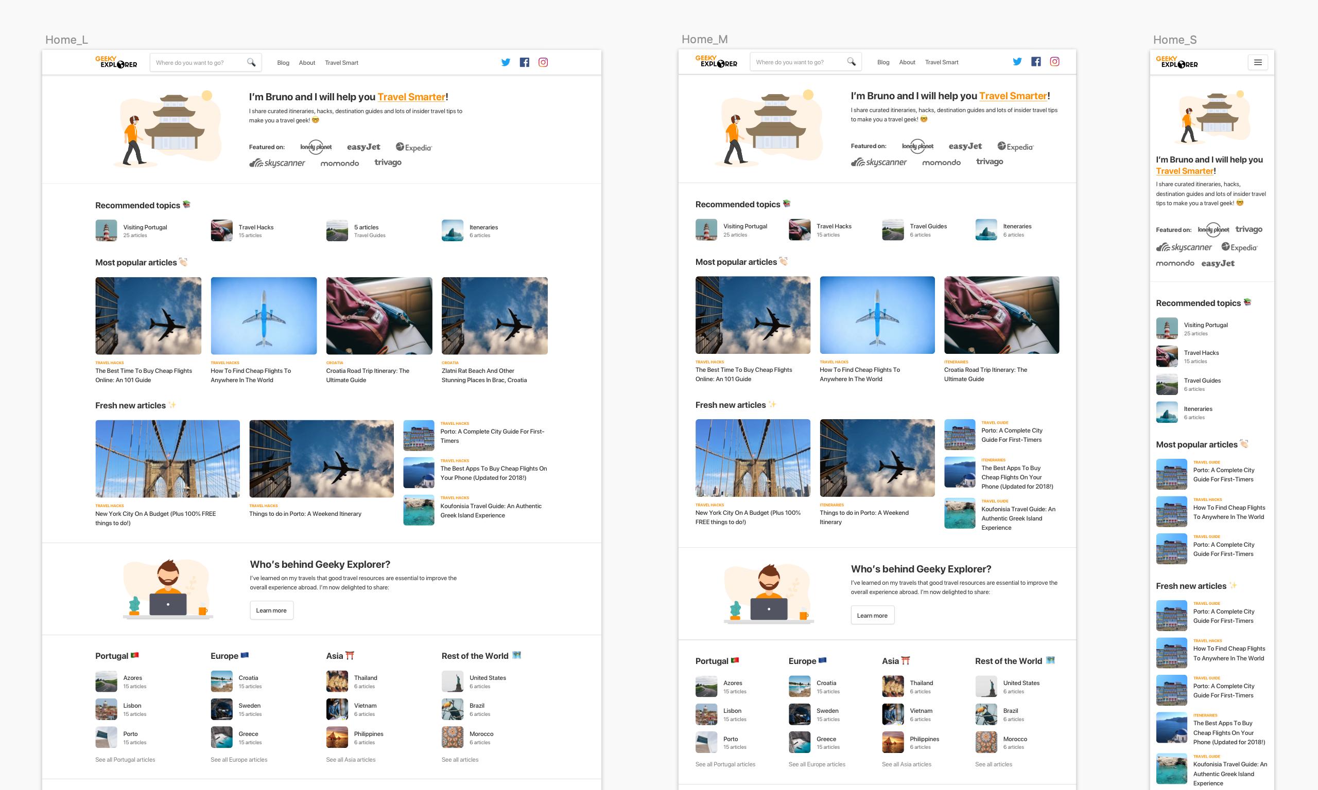 Geeky Explorer homepage